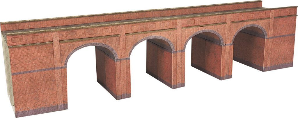 METCALFE PN140 N GAUGE RED BRICK VIADUCT - (PRICE INCLUDES DELIVERY)