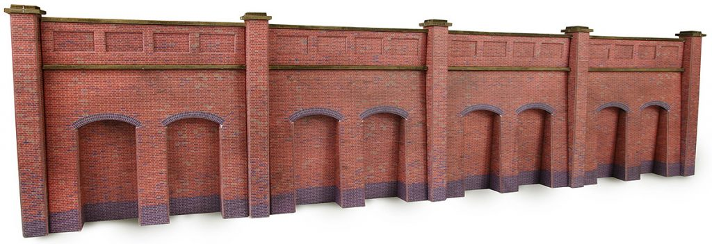 METCALFE PN145 N GAUGE RETAINING WALL BRICK STYLE - (PRICE INCLUDES DELIVERY)