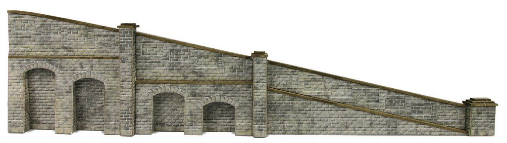 METCALFE PN149 N GAUGE TAPERED RETAINING WALLS STONE STYLE - (PRICE INCLUDES DELIVERY)