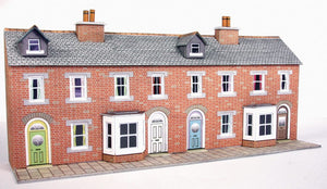 METCALFE PN174 N GAUGE LOW RELIFE TERRACED HOUSE FRONTS RED BRICKED STYLE - (PRICE INCLUDES DELIVERY)