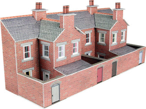 METCALFE PN176 N GAUGE LOW RELIFE TERRACED HOUS BACKS RED BRICK STYLE - (PRICE INCLUDES DELIVERY)