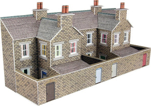METCALFE PN177 N GAUGE LOW RELIEF TERRACED HOUSE BACKS STONE STYLE - (PRICE INCLUDES DELIVERY)