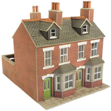 Load image into Gallery viewer, METCALFE PO261 OO/1.76 TERRACED HOUSES RED BRICK - (PRICE INCLUDES DELIVERY)