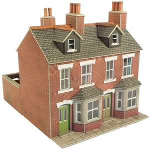 METCALFE PO261 OO/1.76 TERRACED HOUSES RED BRICK - (PRICE INCLUDES DELIVERY)