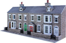 Load image into Gallery viewer, METCALFE PO275 OO/1.76 LOW RELIEF STONE TERRACED HOUSE FRONTS - (PRICE INCLUDES DELIVERY)