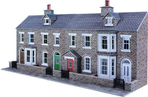 METCALFE PO275 OO/1.76 LOW RELIEF STONE TERRACED HOUSE FRONTS - (PRICE INCLUDES DELIVERY)