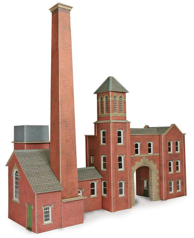 METCALFE PO284 OO/1:76 FACTORY ENTRANCE AND BOILERHOUSE - (PRICE INCLUDES DELIVERY)