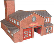 Load image into Gallery viewer, METCALFE PO289 OO/1:76 FIRE STATION - (PRICE INCLUDES DELIVERY)