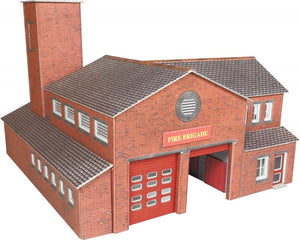 METCALFE PO289 OO/1:76 FIRE STATION - (PRICE INCLUDES DELIVERY)