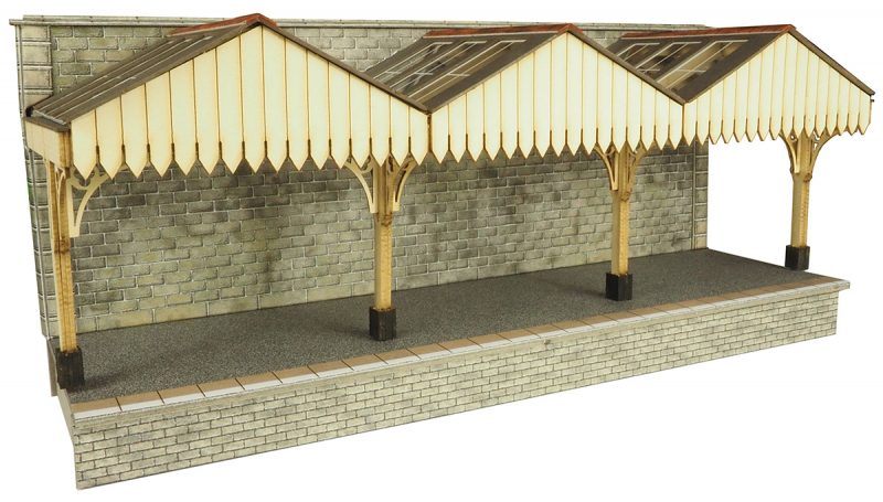 METCALFE PO341 OO/1:76 PLATFORM CANOPY WALL BACKED - (PRICE INCLUDES DELIVERY)