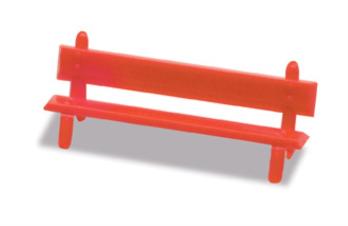PECO LK-26 OO/1:76 PLATFORM SEATS-RED - (PRICE INCLUDES DELIVERY)