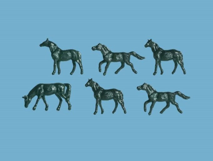 MODEL SCENE ACCESSORIES NO.5178 N GAUGE HORSES - (PRICE INCLUDES DELIVERY)