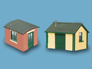 MODEL SCENE ACCESSORIES NO.5185 N GAUGE LINESIDE HUTS (2) - (PRICE INCLUDES DELIVERY)