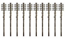 Load image into Gallery viewer, RATIO 211 N GAUGE TELEGRAPH POLES (10) - (PRICE INCLUDES DELIVERY)