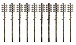 RATIO 211 N GAUGE TELEGRAPH POLES (10) - (PRICE INCLUDES DELIVERY)