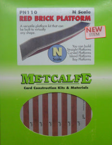 METCALFE PN110 N GAUGE RED BRICK PLATFORM - (PRICE INCLUDES DELIVERY)