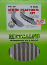 Load image into Gallery viewer, METCALFE PN135 N GAUGE STONE PLATFORM KIT - (PRICE INCLUDES DELIVERY)