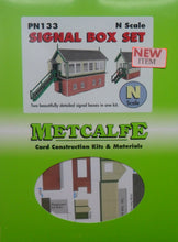 Load image into Gallery viewer, METCALFE PN133 N GAUGE SIGNAL BOX SET - (PRICE INCLUDES DELIVERY)