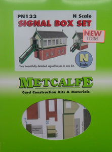METCALFE PN133 N GAUGE SIGNAL BOX SET - (PRICE INCLUDES DELIVERY)
