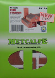 METCALFE PN189 N GAUGE FIRE STATION - (PRICE INCLUDES DELIVERY)