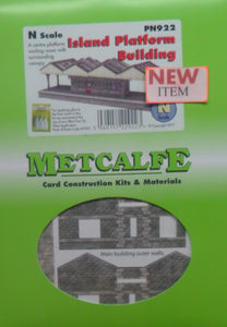 METCALFE PN941 N GAUGE WALL BACKED PLATFORM CANOPY - (PRICE INCLUDES DELIVERY)