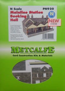 METCALFE PN920 N GAUGE MAINLINE STATION BOOKING HALL - (PRICE INCLUDES DELIVERY)