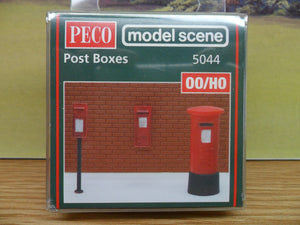 PECO MODEL SCENE 5044 OO 1:76   POST BOXES - (PRICE INCLUDES DELIVERY)