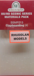 WILLS SSMP213 OO/1:76 CLAPBOARDING (4) - (PRICE INCLUDES DELIVERY)