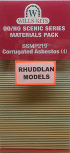 WILLS SSMP219 OO/1:76 CORRUGATED ASBESTOS (4) - (PRICE INCLUDES DELIVERY)