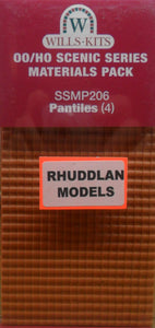 WILLS SSMP206 OO/1:76 PANTILES (4) - (PRICE INCLUDES DELIVERY)