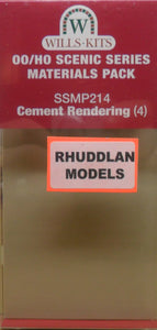 WILLS SSMP214 OO/1:76 CEMENT RENDERING (4) - (PRICE INCLUDES DELIVERY)