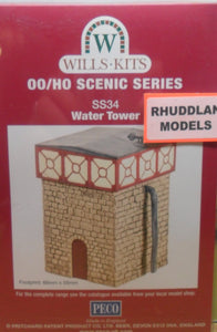 WILLS SS34 OO/1:76 WATER TOWER - (PRICE INCLUDES DELIVERY)