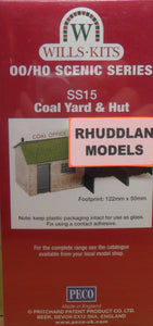 WILLS SS15 OO/1:76 COAL YARD & HUT - (PRICE INCLUDES DELIVERY)