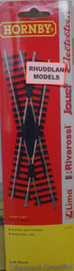 HORNBY R614 OO/1:76 LEFT HAND DIAMOND CRSOSSING - (PRICE ICLUDES DELIVERY)