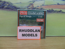 Load image into Gallery viewer, PECO MODEL SCENE 5108 OO/1:76 PIGS & TROUGH - (PRICE INCLUDES DELIVERY)
