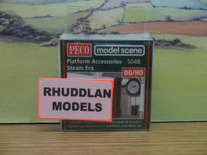 PECO MODEL SCENE 5048 OO/1:76 PLATFORM ACCESSORIES STEAM ERA - (PRICE INCLUDES DELIVERY)