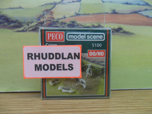 PECO MODEL SCENE 5100 OO/1:76 COWS - (PRICE INCLUDES DELIVERY)