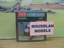 Load image into Gallery viewer, PECO MODEL SCENE 5083 OO/1:76 DUSTBINS - (PRICE INCLUDES DELIVERY)