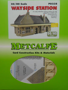 METCALFE PO238 OO/1:76 WAYSIDE STATION - (PRICE INCLUDES DELIVERY)