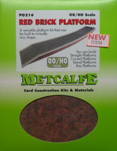 Load image into Gallery viewer, METCALFE PO216 OO/1.76  RED BRICK PLATFORM - (PRICE INCLUDES DELIVERY)