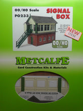 Load image into Gallery viewer, METCALFE PO233  OO/1.76 SIGNAL BOX - (PRICE INCLUDES DELIVERY)