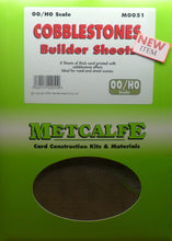 Load image into Gallery viewer, METCALFE M0051 OO/1.76 COBBLESTONES BUILDER SHEETS - (PRICE INCLUDES DELIVERY)