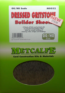 METCALFE M0052 OO/1.76 DRESSED GRITSTONE BUILDER SHEETS - (PRICE INCLUDES DELIVERY)
