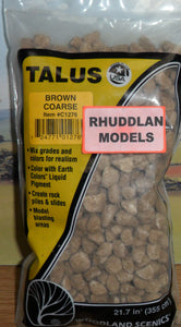 WOODLANDS SCENICS C1276 TALUS BROWN COARSE - (PRICE INCLUDES DELIVERY)