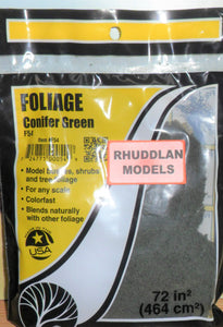 WOODLANDS SCENICS F54 FOLIAGE CONIFER GREEN - (PRICE INCLUDES DELIVERY)