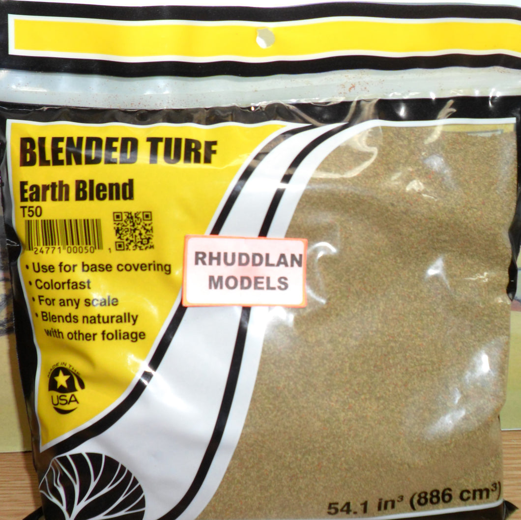 WOODLANDS SCENICS T50 BLENDED TURF EARTH BLEND - (PRICE INCLUDES DELIVERY)