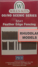 Load image into Gallery viewer, WILLS SS41 OO/1:76 FEATHER EDGE FENCING - (PRICE INCLUDES DELIVERY)