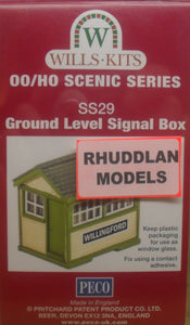 WILLS SS29 OO/1:76 GROUND LEVEL SIGNAL BOX - (PRICE INCLUDES DELIVERY)