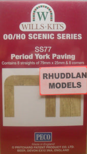 WILLS SS77 OO/1:76 PERIOD YORK PAVING - (PRICE INCLUDES DELIVERY)