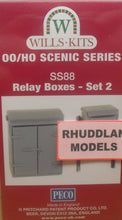 Load image into Gallery viewer, WILLS SS88 OO/1:76 RELAY BOXES SET 2 - (PRICE INCLUDES DELIVERY)